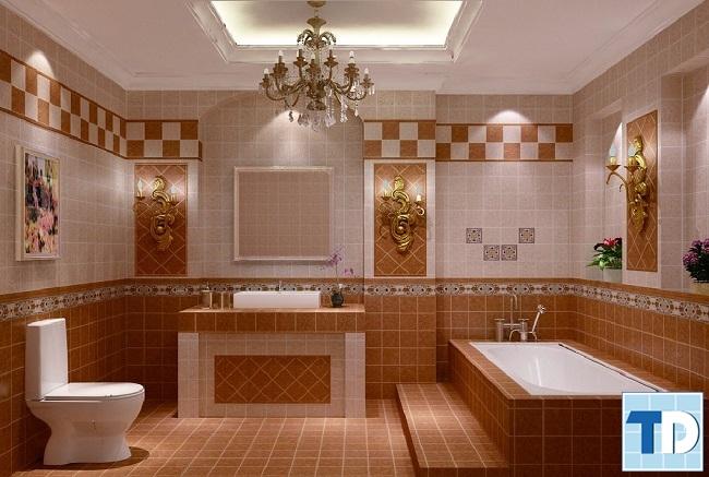Phòng tắm tân cổ điển đơn giản