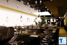 Tinh tế đẳng cấp trong từng nét thiết kế nội thất nhà hàng hiện đại