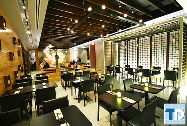 Không gian nhà hàng thanh lịch