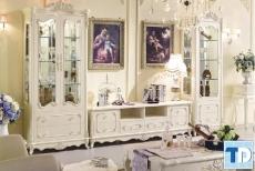 Các mẫu thiết kế tủ rượu tân cổ điển đẹp sang trọng quý phái