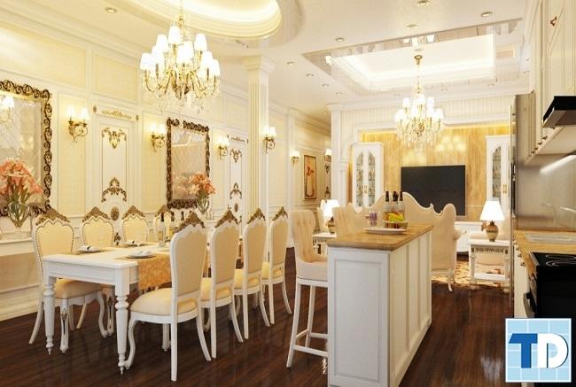 Phòng bếp trên tầng 2 tiện nghi