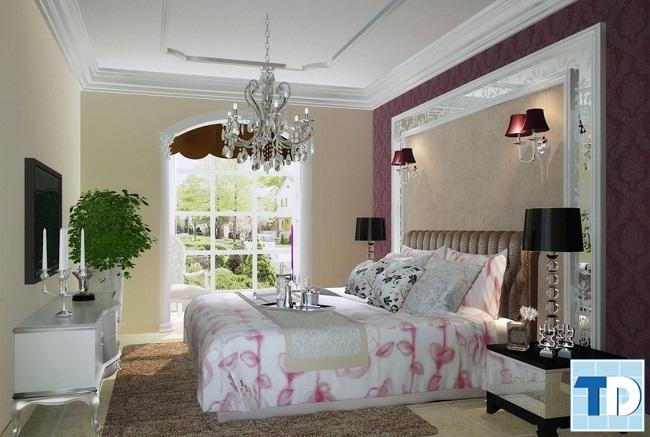 Phòng ngủ master tiện nghi, đẹp