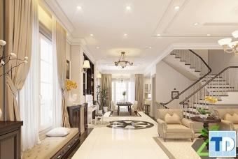 Thiết kế nội thất nhà 4 tầng tân cổ điển đẳng cấp phong cách hoàng gia