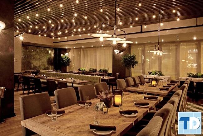 Mẫu nhà hàng đẹp lộng lẫy