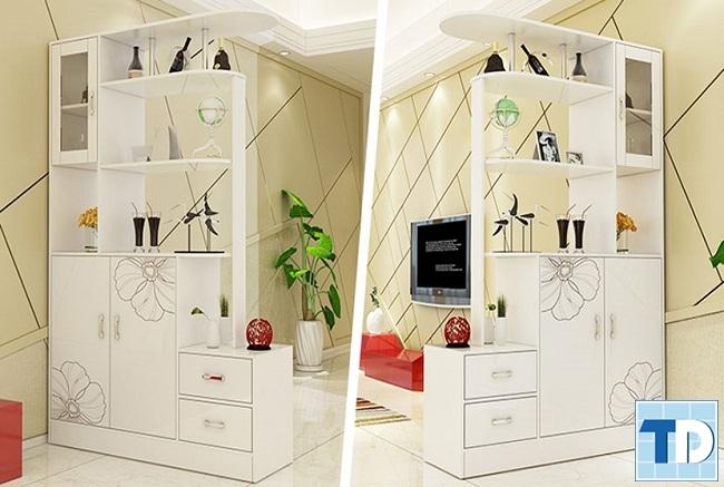 Mẫu tủ giày kết hợp tủ đựng rượu
