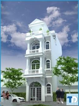 Thiết kế nội thất nhà 4 tầng tân cổ điển lộng lẫy