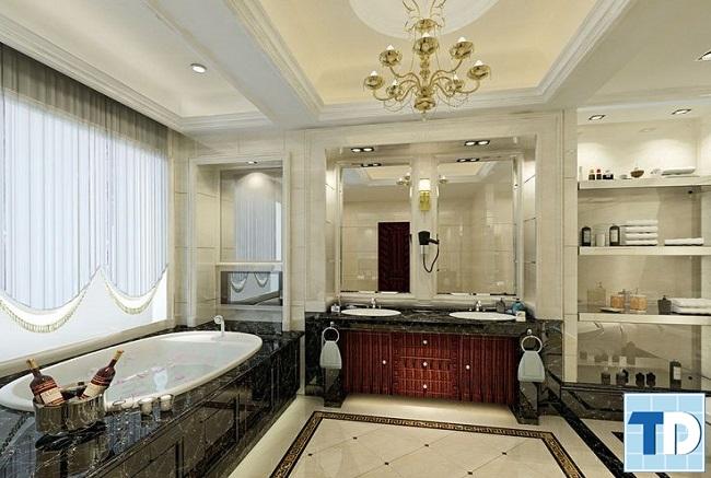 Nội thất nhà tắm tân cổ điển lộng lẫy
