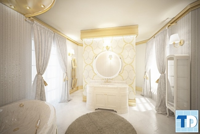 Phòng tắm tân cổ điển quyến rũ