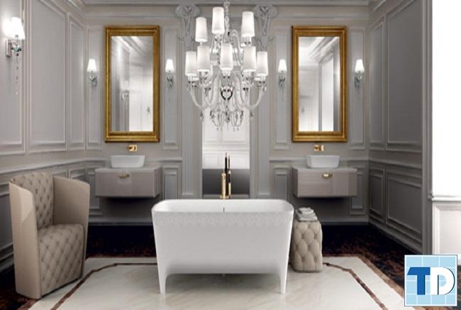 Thiết kế gam xám trắng cho nội thất tân cổ điển