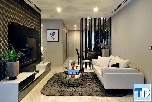 Phòng khách chung cư Nghĩa Đô