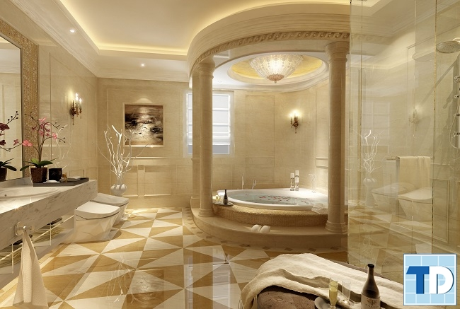 Phòng tắm sang trọng phong cách quý tộc