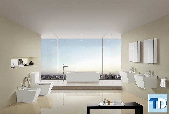 Thiết kế phòng tắm thông thoáng