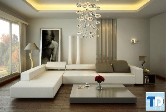 Phòng khách căn hộ nhỏ đẹp