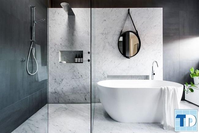 Phòng tắm sang trọng với thiết kế độc đáo