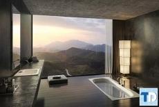 Thiết kế nội thất nhà tắm hiện đại quý phái  vạn người mê