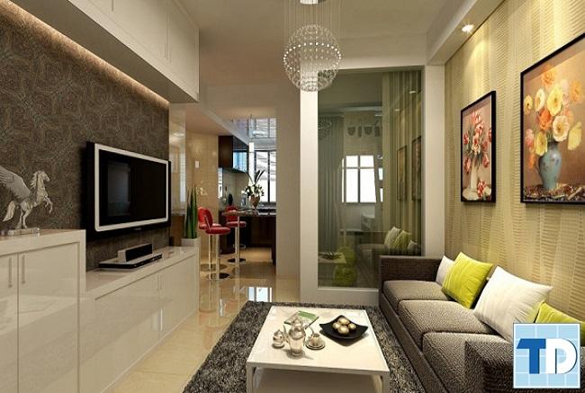 Phòng khách chung cư 75 Tam Trinh