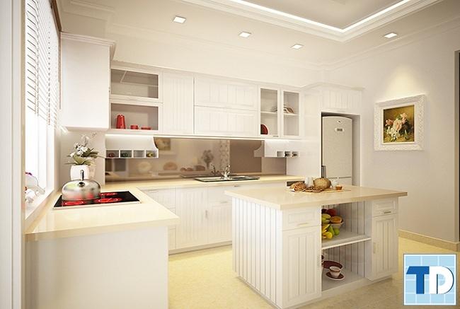 Phòng bếp tân cổ điển sang trọng, tiện nghi