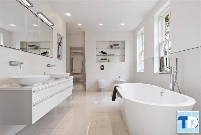 Không gian sang trọng với nội thất trắng