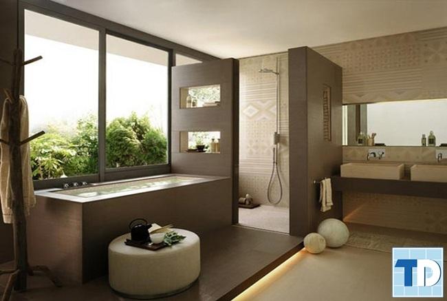 Thiết kế nhà tắm thông thoáng