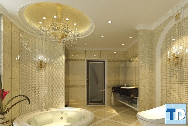 Không gian nhà tắm lãng mạn