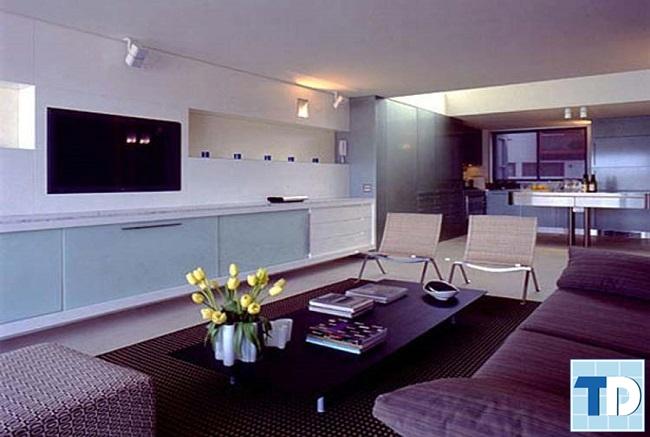 Phòng khách căn hộ 2 phòng ngủ