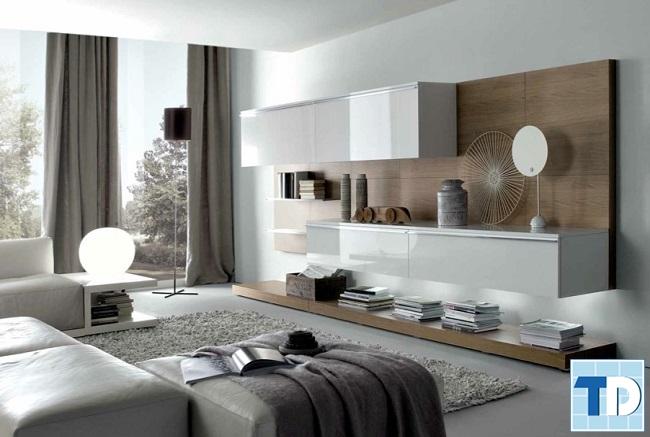 Phòng khách căn hộ chung cư 80m2 hiện đại