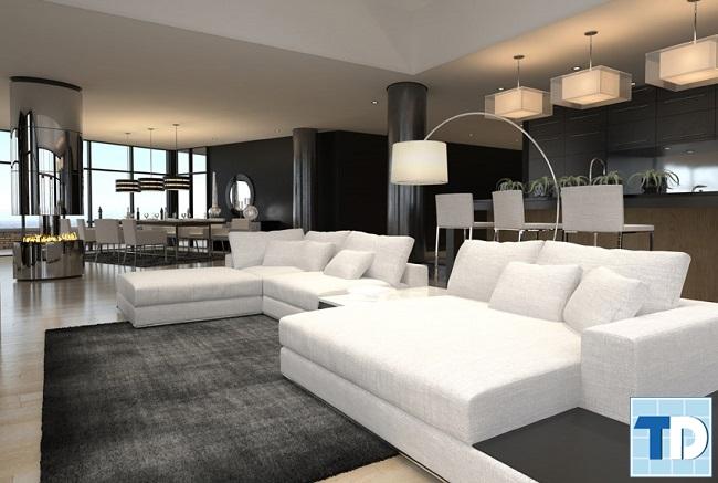 Phòng khách chung cư 90m2