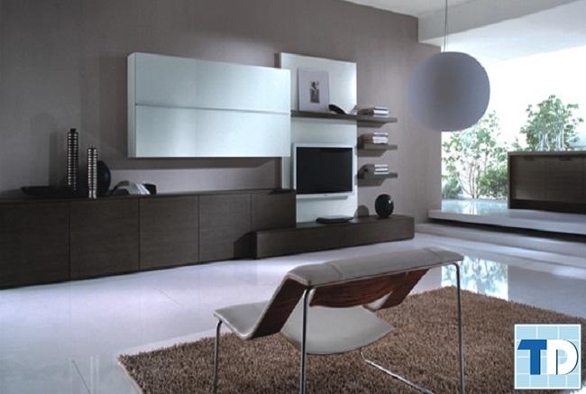 Phòng khách chung cư HH1C Linh Đàm