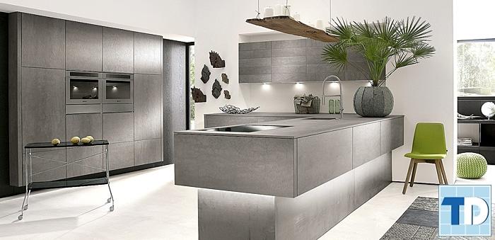 Phòng bếp tone màu xám lịch lãm