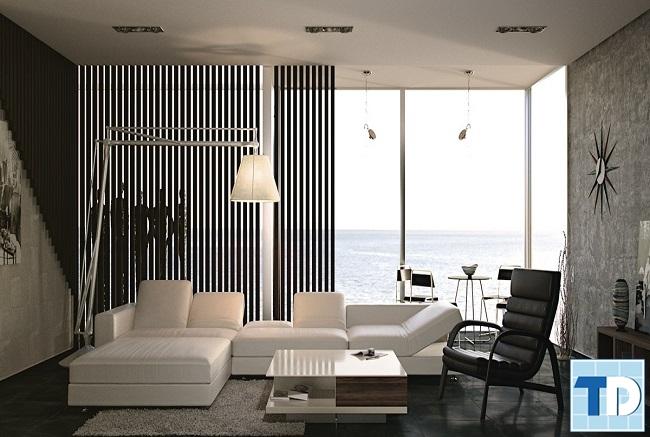 Phòng khách chung cư 100m2 hiện đại