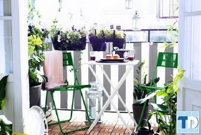Không gian tuyệt vời để thưởng thức trà và cafe với ban công đẹp