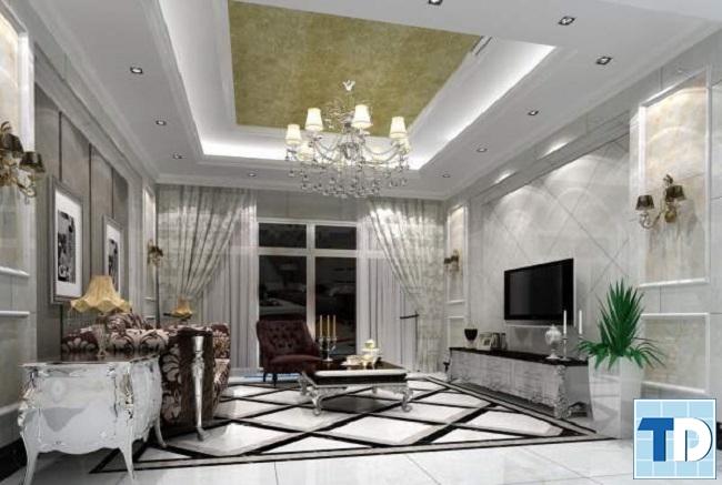 Trần thạch cao cho nhà chung cư tân cổ điển