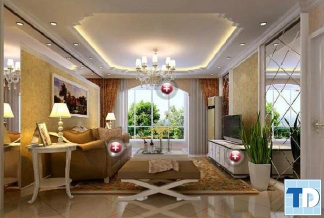 Mẫu trần thạch cao đẹp cho phòng khách nhỏ