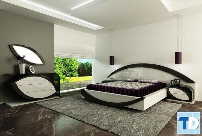 Phòng ngủ phong cách hiện đại độc đáo