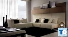 Mẫu thiết kế căn hộ 2 phòng ngủ đơn giản đẹp tiện ích