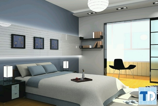 Phòng ngủ nhỏ được sắp xếp gọn gàng
