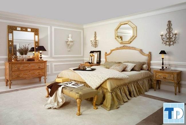 Phòng ngủ master tân cổ điển mộc mạc