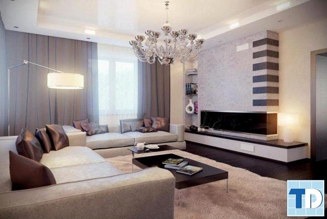 Phòng khách căn hộ chung cư 88m2