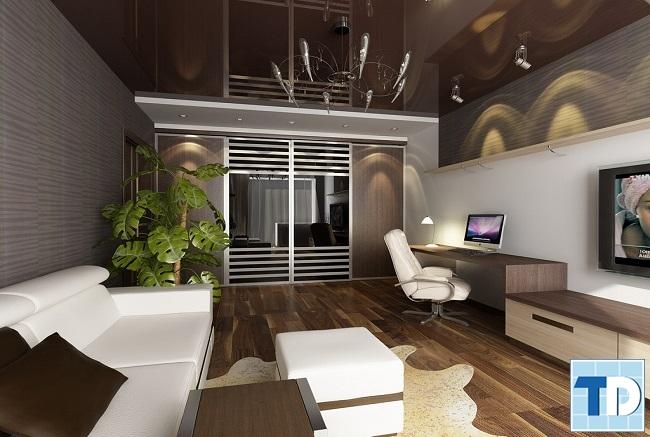 Phòng khách chung cư 45m2 hiện đại