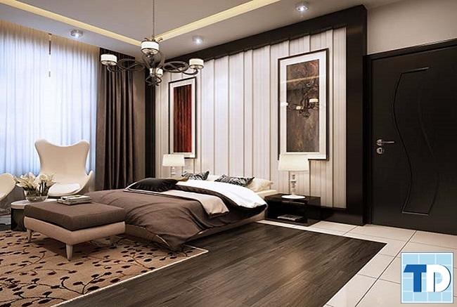 Phòng ngủ master ấm áp