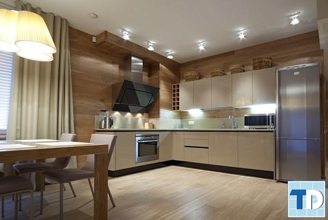 Phòng bếp gỗ hiện đại