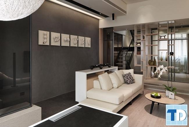 Phòng khách căn hộ nội thất 100 triệu