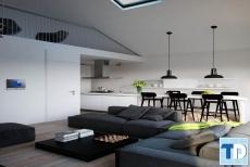 Mẫu nội thất căn hộ chung cư 65m2 đẹp phong cách hiện đại đơn giản