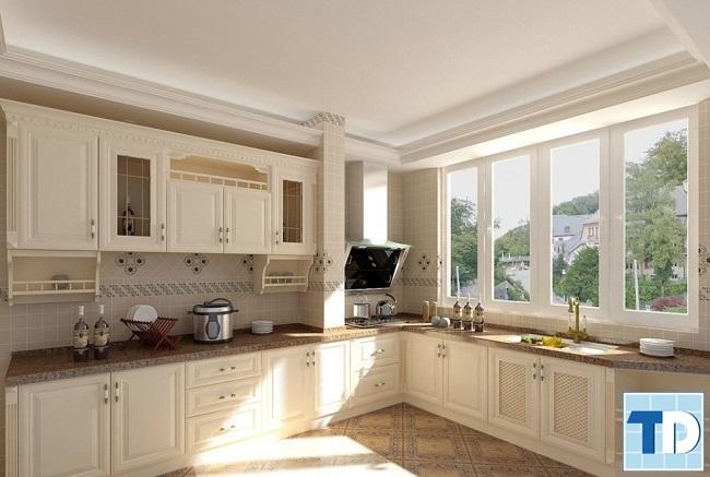 Phòng bếp tân cổ điển đơn giản
