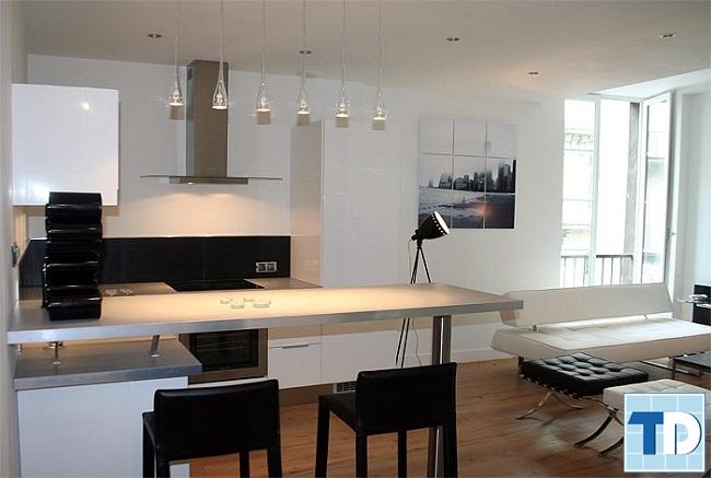 Phòng bếp đơn giản mà tinh tế
