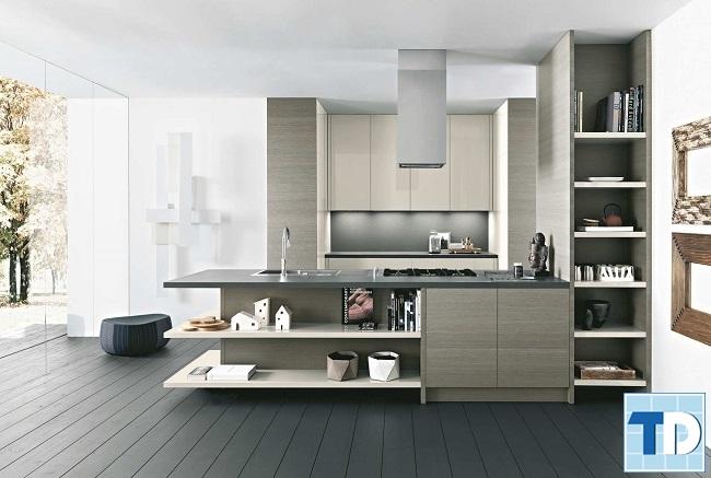Mẫu bếp với thiết kế mở