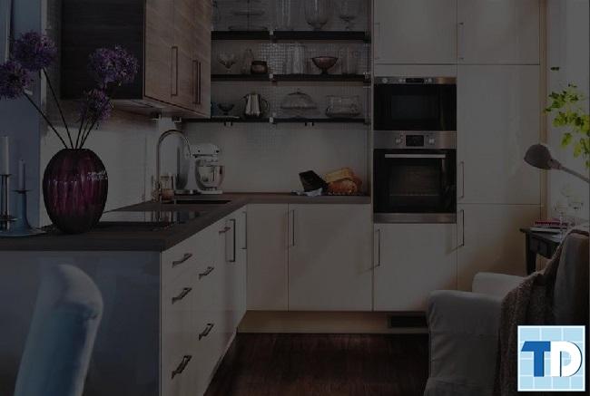 Phòng bếp nhỏ gọn tiện nghi