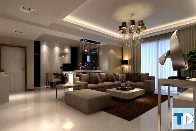 Mẫu nội thất phòng khách chung cư sang trọng
