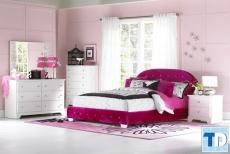 Nội thất chung cư phòng ngủ đẹp dành cho con gái 22