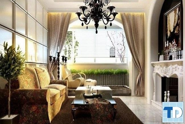 Mẫu phòng khách tân cổ điển đẹp hiện đại